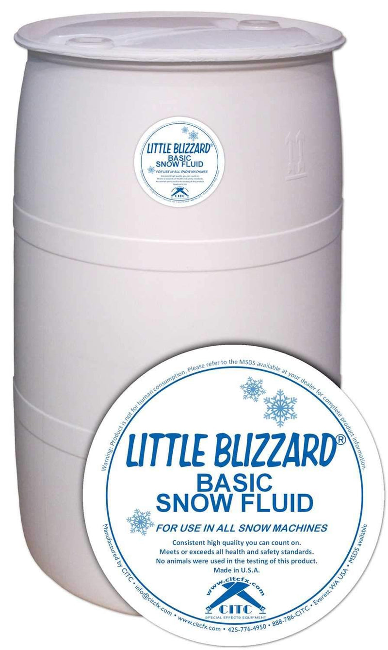 CITC Little Blizzard Basic Snow Fluid 55 Gal Dru - PSSL ProSound and Stage Lighting