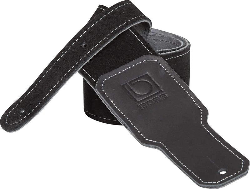 Boss BSS-25-BLK Black Suede Guitar Strap - PSSL ProSound and Stage Lighting