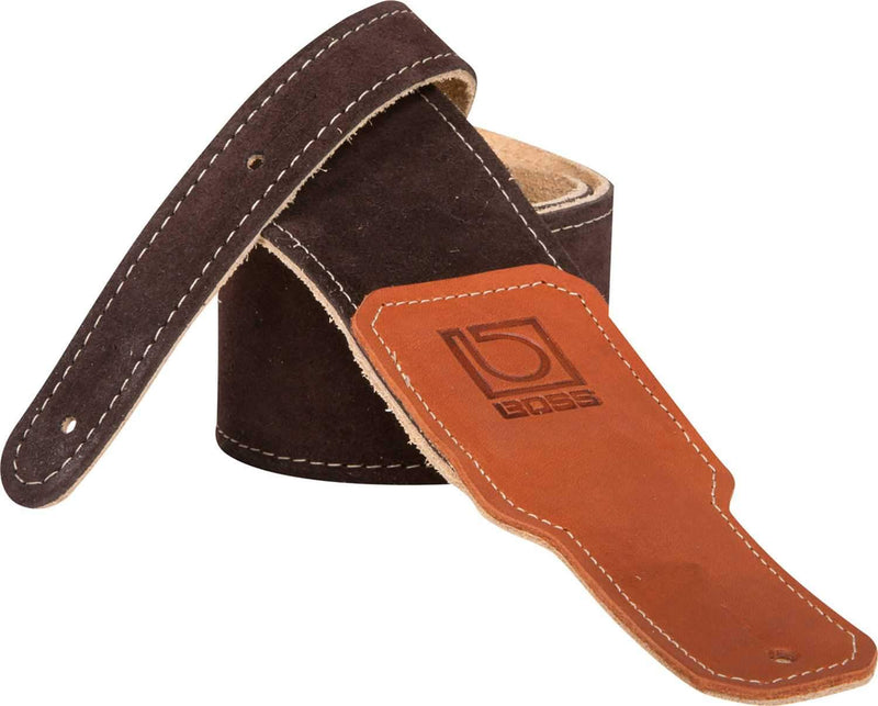 Boss BSS-25-BRN 2.5 inch Brown Suede Guitar Strap - PSSL ProSound and Stage Lighting