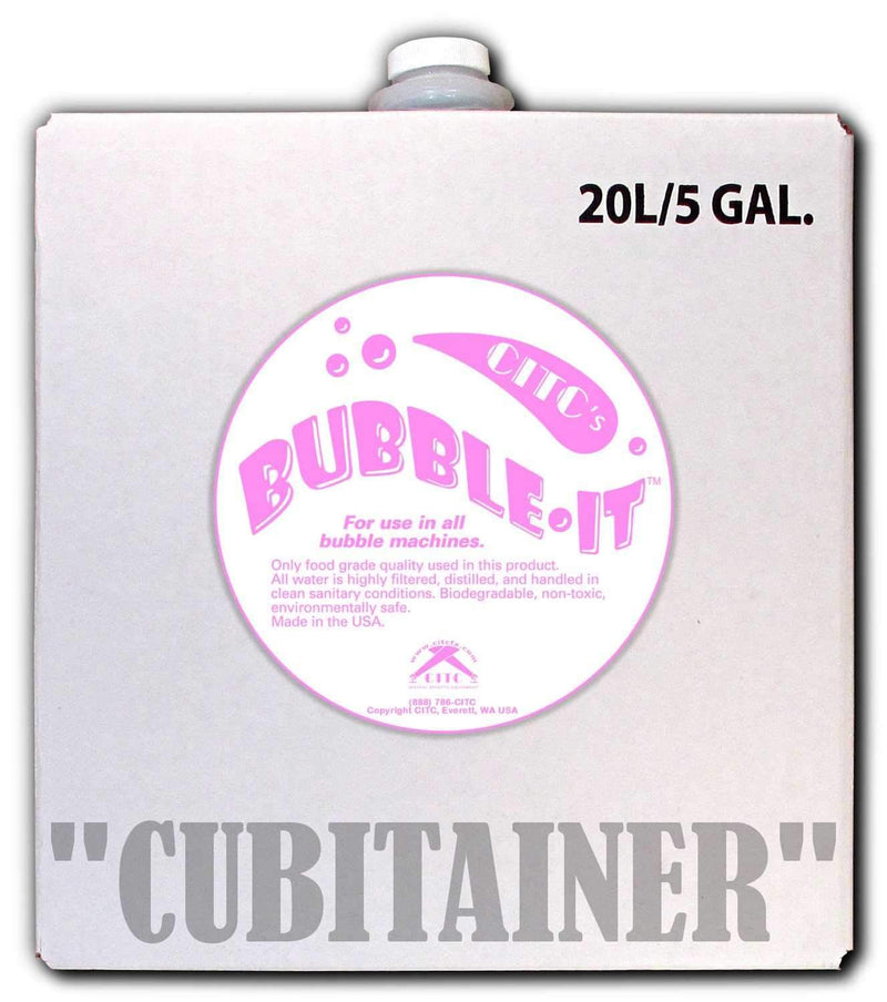 CITC Bubble-IT Fluid for Thinner Bubbles 5 Gal - PSSL ProSound and Stage Lighting