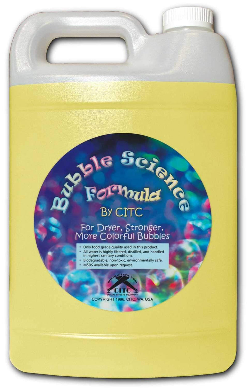 CITC Bubble Science Fluid 10x Bubbles 1 Gal - PSSL ProSound and Stage Lighting