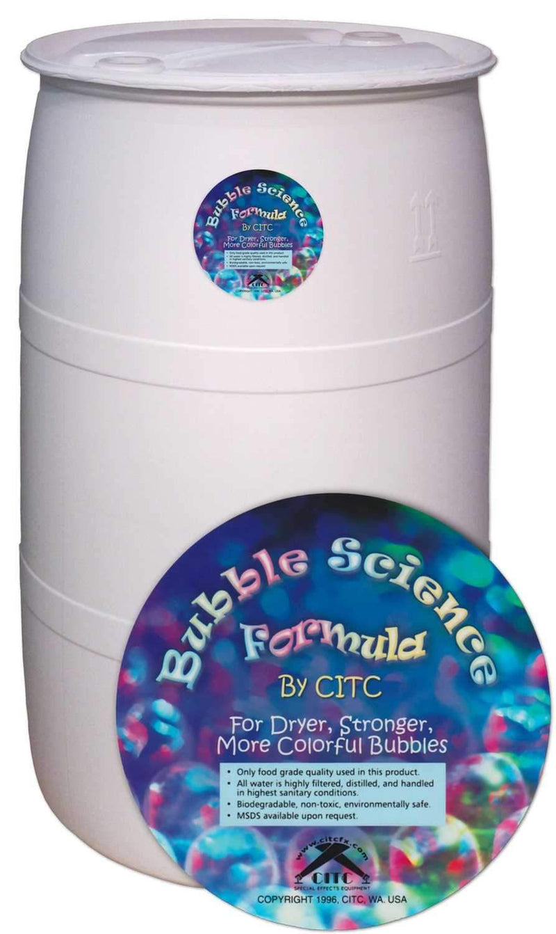 CITC Bubble Science Fluid 10x Bubbles 55 Gal - PSSL ProSound and Stage Lighting