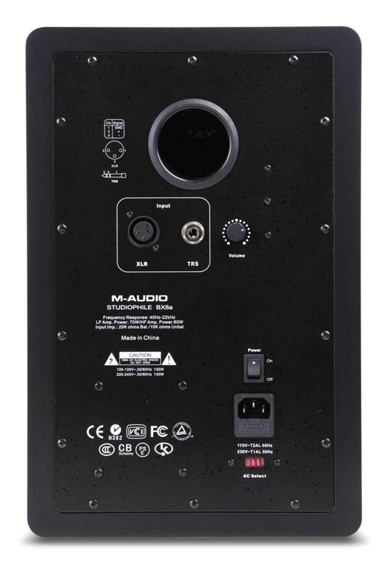 M-Audio BX8A 8 Powered Monitor Speakers (Pair) - PSSL ProSound and Stage Lighting