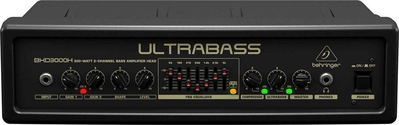 Behringer BXD3000H Ultra Light 300w Bass Amp Head - PSSL ProSound and Stage Lighting