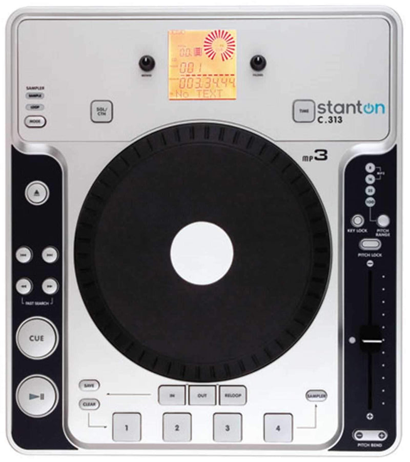 Stanton C-313 Single Table Top CD Player/Mp3 - ProSound and Stage Lighting