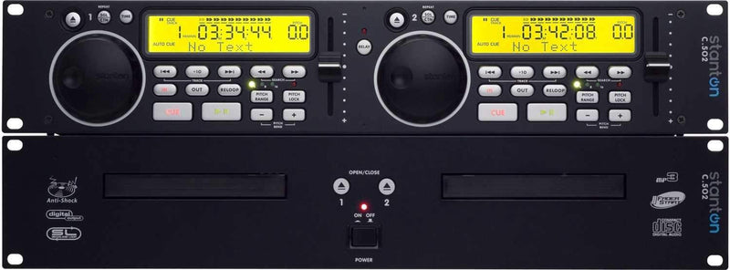 Stanton C.502 Rackmount Dual DJ CD & MP3 Player - PSSL ProSound and Stage Lighting