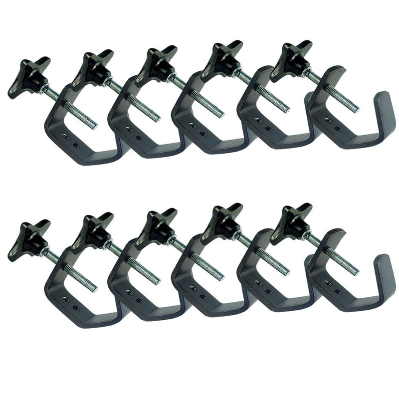 Metal Light Duty C-Clamp For Truss - 10 Pack - ProSound and Stage Lighting