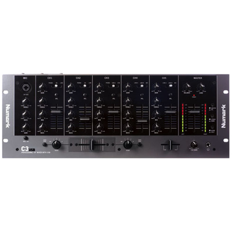 Numark C3USB 5 Channel 19-inch Mixer with 3 Band EQ - PSSL ProSound and Stage Lighting