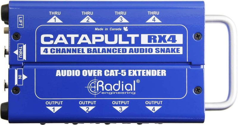 Radial Catapult RX4 4ch Receiver with Balanced Outs - PSSL ProSound and Stage Lighting
