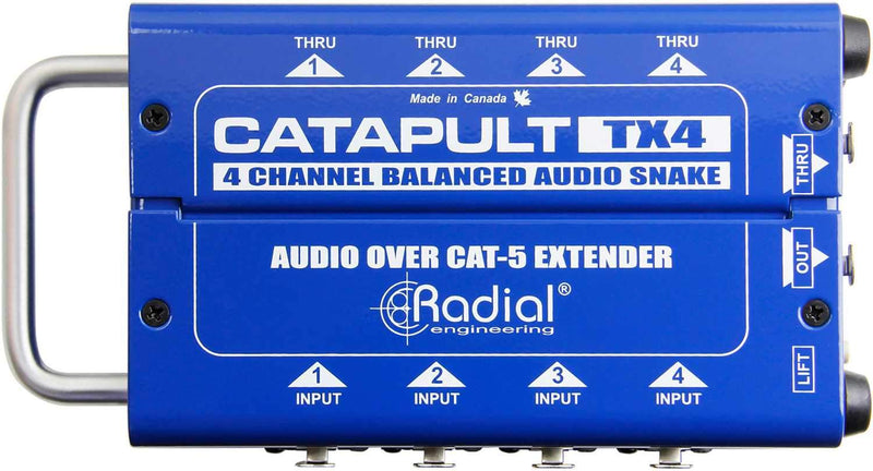 Radial Catapult TX4 4ch Transmitter w Balanced i/o - PSSL ProSound and Stage Lighting
