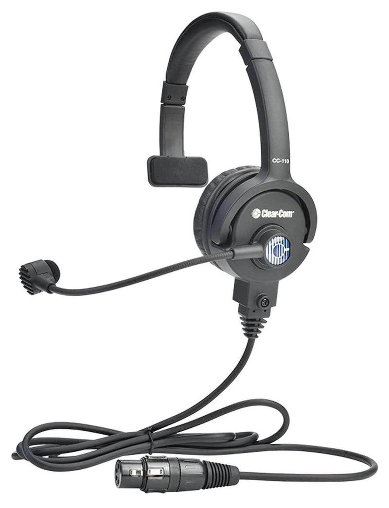 Clear-Com CC-110-X4 Lightweight Single-Ear Standard Headset - ProSound and Stage Lighting