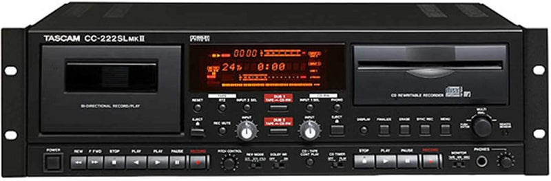 Tascam CC-222-SL-MKII Slot Load CD/Cassette Record - PSSL ProSound and Stage Lighting