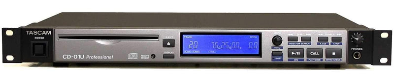 Tascam CD-01U-PRO Pro Rackmount CD Player - PSSL ProSound and Stage Lighting