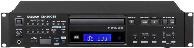 Tascam CD-200SB Rackmount CD Player - PSSL ProSound and Stage Lighting