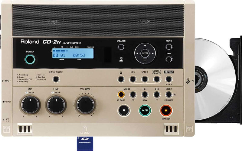 Roland CD-2U SD/CD Recorder & CD Burner - PSSL ProSound and Stage Lighting
