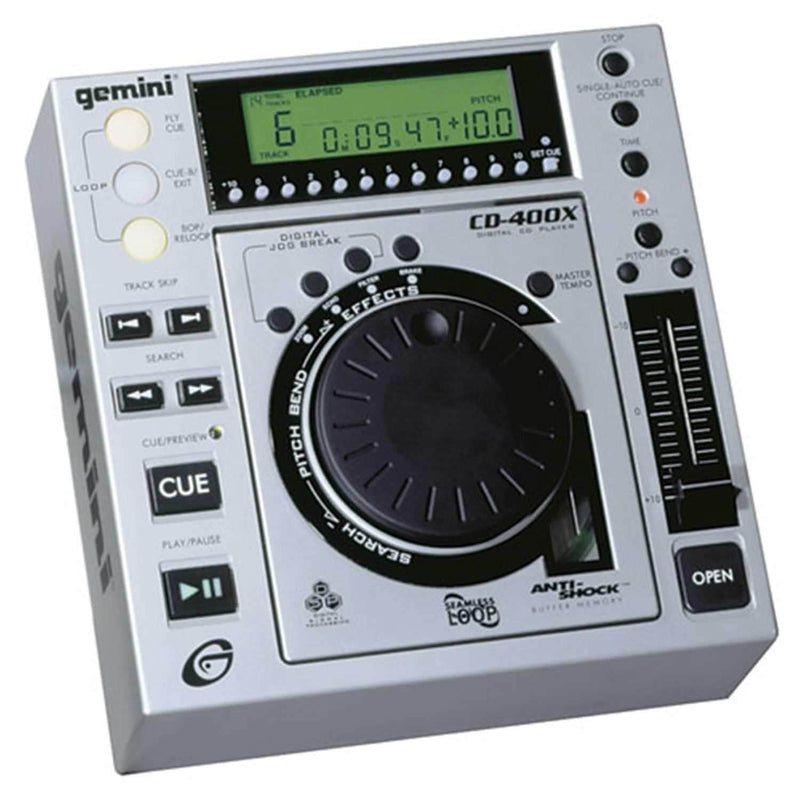 GEMINI CD400X TABLE TOP CD PLAYER with EFFECTS - PSSL ProSound and Stage Lighting