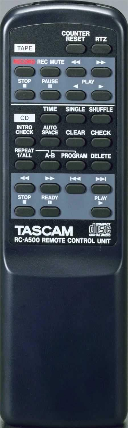 Tascam CDA500 CD/Cassette Combination Player - PSSL ProSound and Stage Lighting