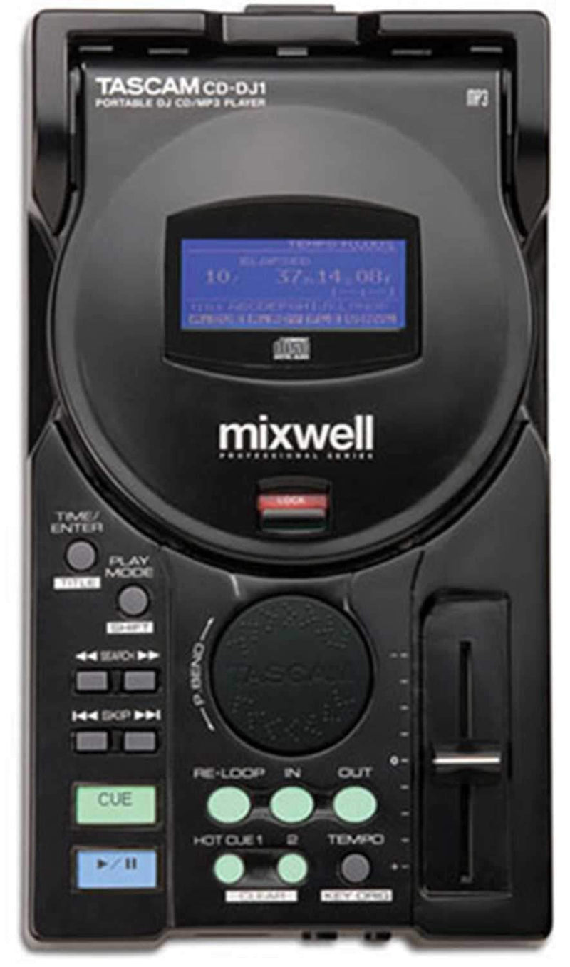 Tascam Mixwell CD-DJ1 Table Top DJ CD Player with Mp3 - ProSound and Stage Lighting