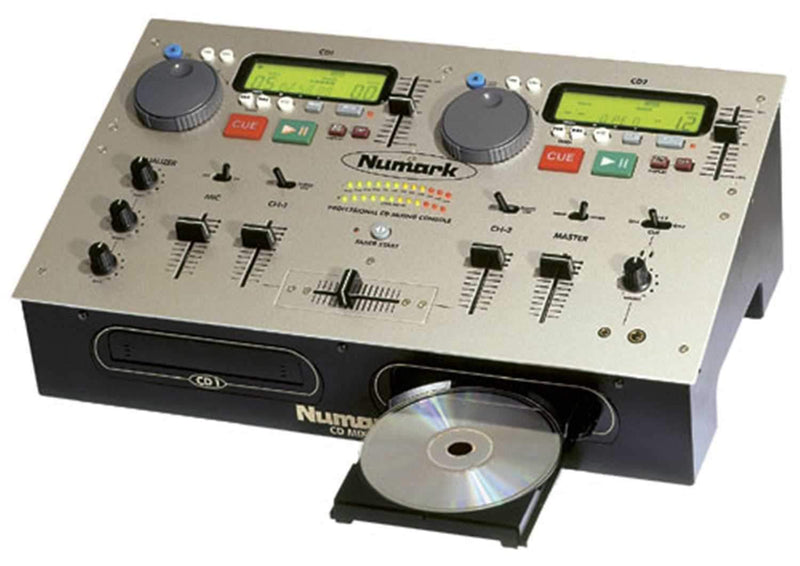 NUMARK CDMIX DUAL CD PLAYER/MIXER COMBO - GOLD - PSSL ProSound and Stage Lighting