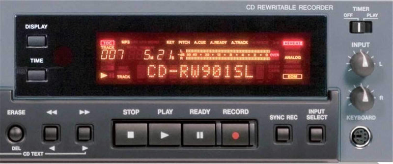 Tascam CD-RW901SL CD Recorder Bal I/O AES/EBU - PSSL ProSound and Stage Lighting