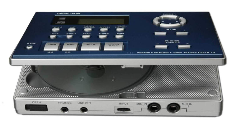 Tascam CD-VT2 Vocal/Instrument Trainer & Cd Player - PSSL ProSound and Stage Lighting