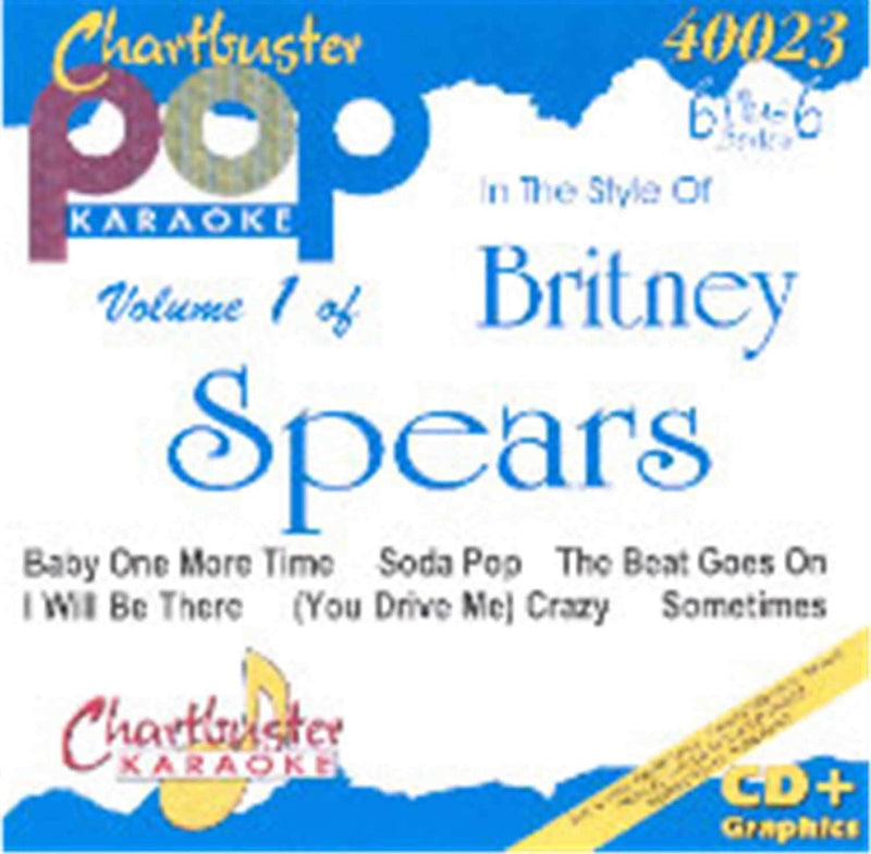 Chartbuster Karaoke Artist Britney Spears Vol 1 - ProSound and Stage Lighting