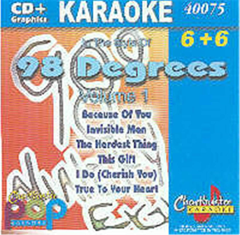 Chartbuster Karaoke Pop Artist 98 Degrees Vol 1 - PSSL ProSound and Stage Lighting