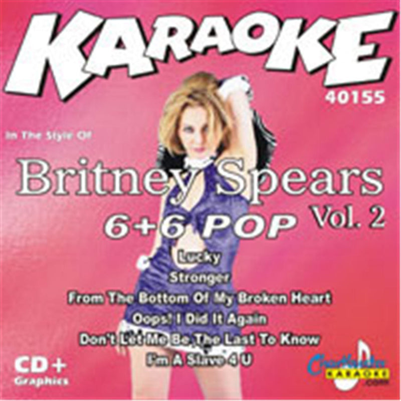 Chartbuster Karaoke Artist Britney Spears Vol 2 - PSSL ProSound and Stage Lighting