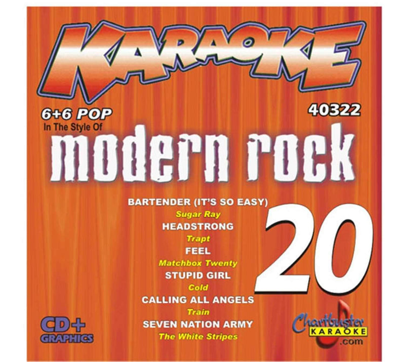 Chartbuster Karaoke Modern Rock Vol 20 - PSSL ProSound and Stage Lighting
