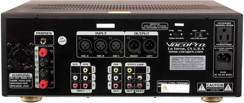 VocoPro CDG-7000RV All-In-One Karaoke Player - PSSL ProSound and Stage Lighting