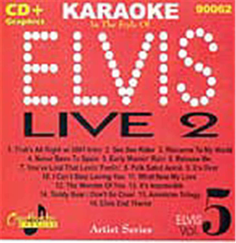 Chartbuster Karaoke Elvis Live Vol 5 - PSSL ProSound and Stage Lighting