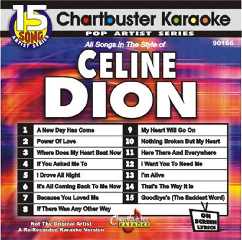 Chartbuster Karaoke Pro Disc Celine Dion - ProSound and Stage Lighting