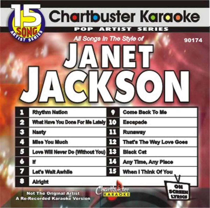 Chartbuster Karaoke Pro Disc Janet Jackson - PSSL ProSound and Stage Lighting