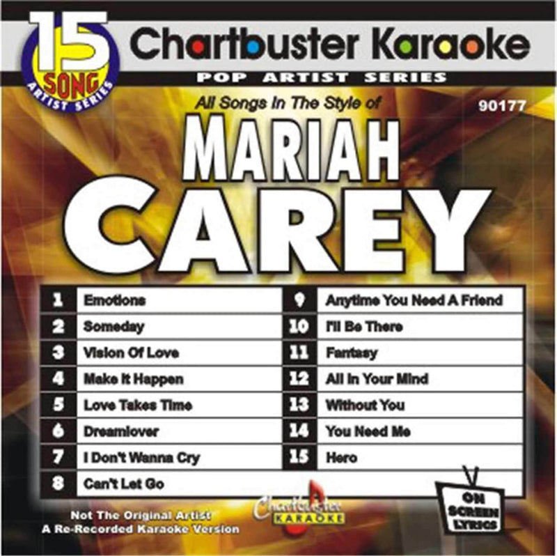 Chartbuster Karaoke Pro Disc Mariah Carey - PSSL ProSound and Stage Lighting