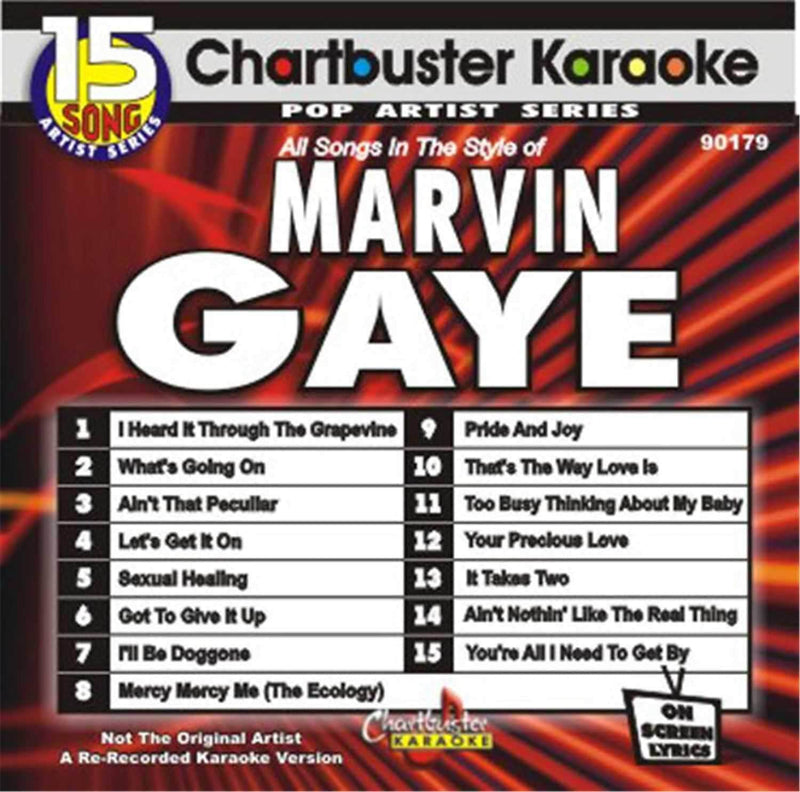 Chartbuster Karaoke Pro Disc Marvin Gaye - PSSL ProSound and Stage Lighting