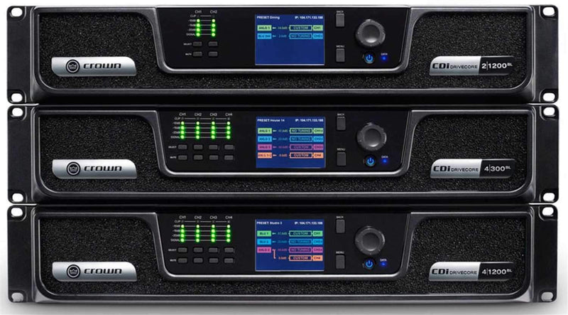 Crown CDi DriveCore 2-Channel 1200W Power Amplifier with BLU Link - PSSL ProSound and Stage Lighting