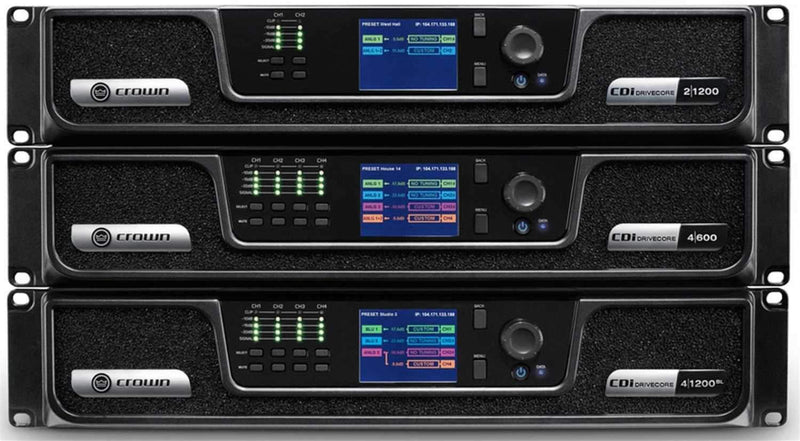 Crown CDi DriveCore 4-Channel 1200W Power Amplifier with BLU Link - PSSL ProSound and Stage Lighting