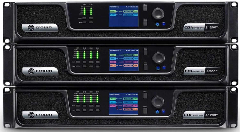 Crown CDi DriveCore 4-Channel 600W Power Amplifier with BLU Link - PSSL ProSound and Stage Lighting