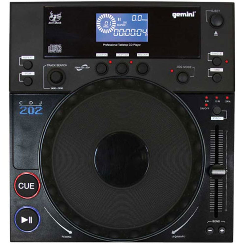 Gemini CDJ-202 Professional Table Top CD Player - PSSL ProSound and Stage Lighting