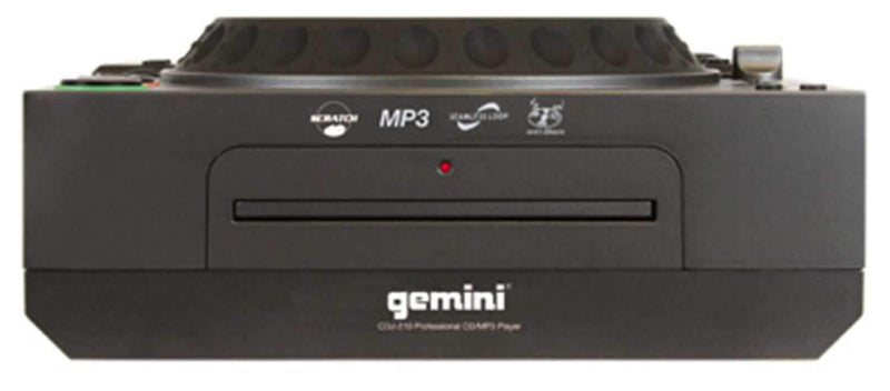 Gemini CDJ-210 TableTop Scratch MP3/CD Player - PSSL ProSound and Stage Lighting