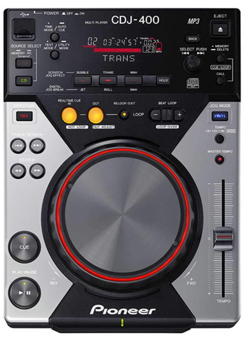 PIONEER CDJ-400 TABLETOP CD/MP3/USB PLAYER - PSSL ProSound and Stage Lighting
