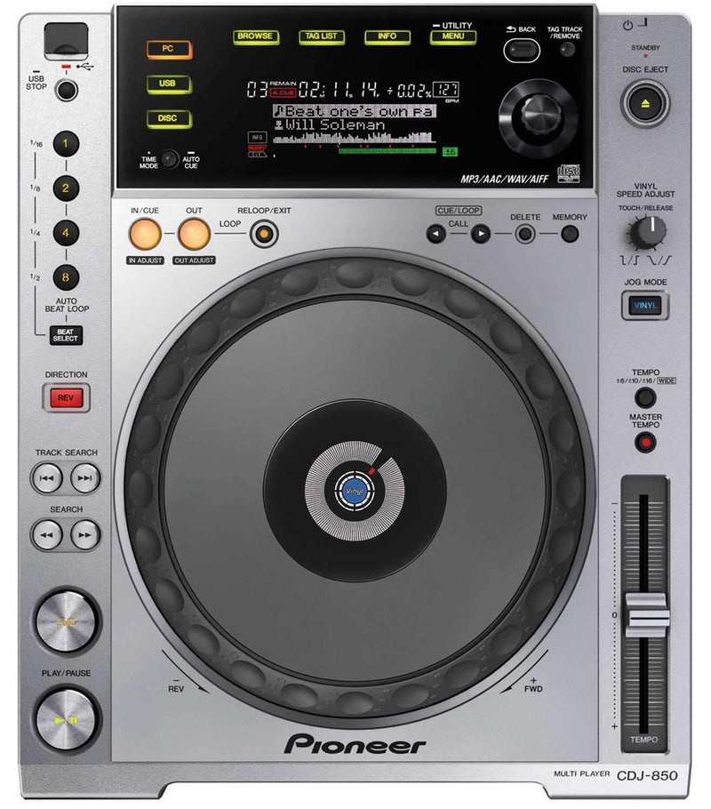 Pioneer CDJ-850 Tabletop Multi Player CD MP3 USB - PSSL ProSound and Stage Lighting