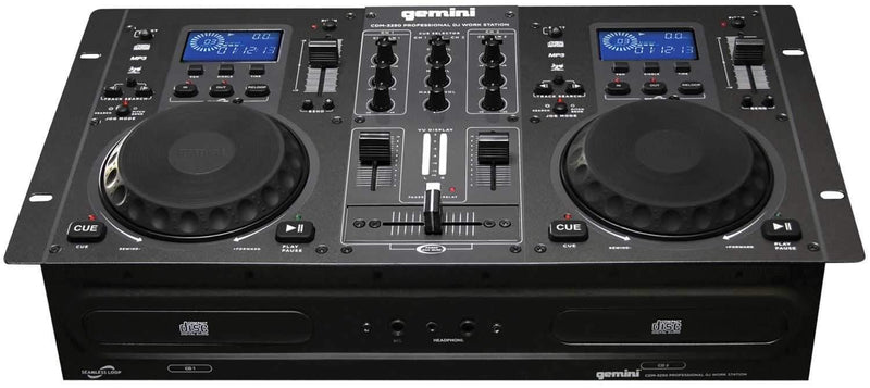 Gemini CDM-3250 Dual CD/MP3 Mixer Combo Player - PSSL ProSound and Stage Lighting