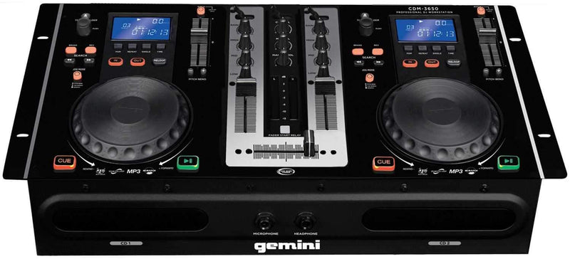 Gemini CDM-3650 Dual CD/MP3 Mixer Combo Player - PSSL ProSound and Stage Lighting
