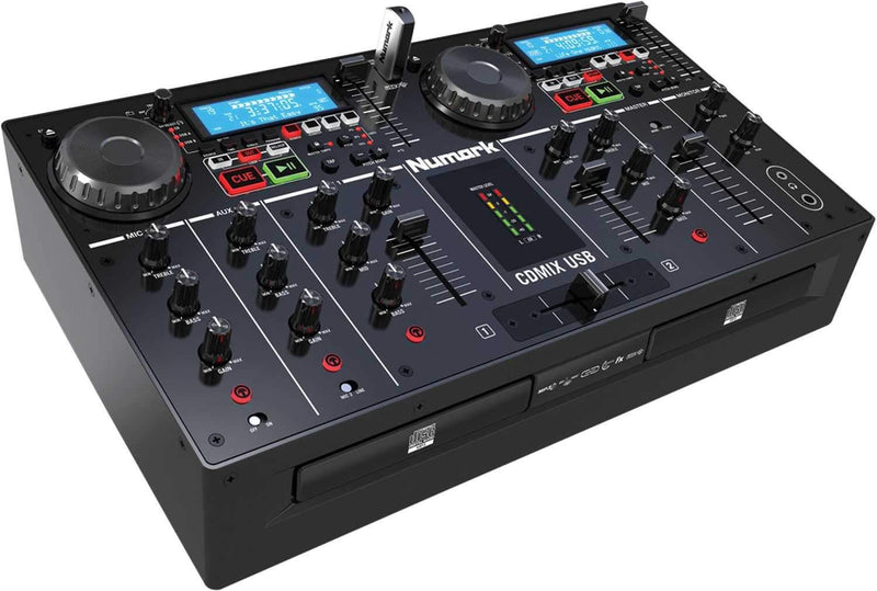 Numark CDMIX USB CD/MP3 Player & DJ Mixer Combo - PSSL ProSound and Stage Lighting
