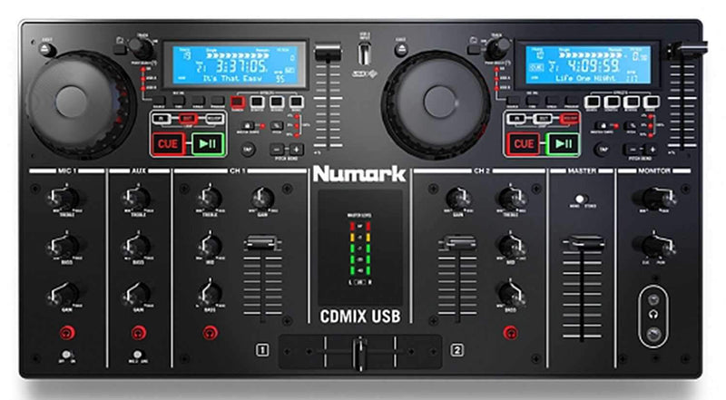 Numark CDMIX USB CD/MP3 Player & DJ Mixer Combo - ProSound and Stage Lighting