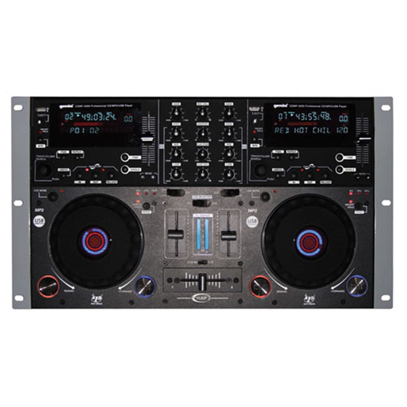 Gemini CDMP-5000 Dual CD/MP3/USB Mixer Combo - PSSL ProSound and Stage Lighting