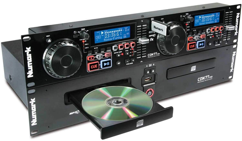 Numark CDN-77-USB Dual USB & MP3 CD Player - PSSL ProSound and Stage Lighting