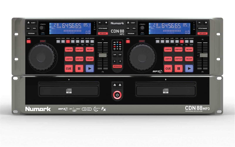 Numark CDN-88 MP3 Profesional Dual CD/MP3 Player - PSSL ProSound and Stage Lighting