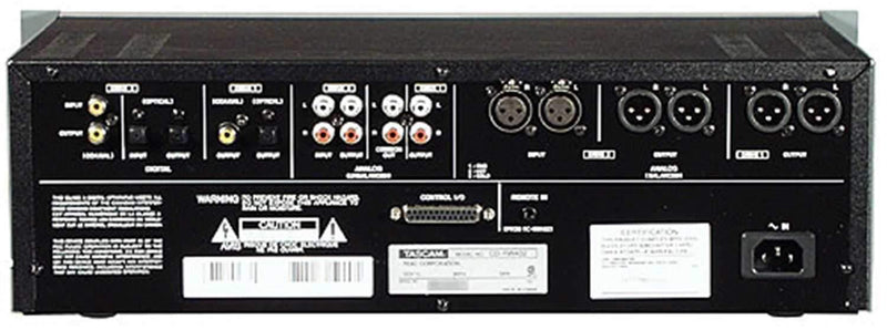 Tascam Professional Dual Deck Cd Recorder - PSSL ProSound and Stage Lighting